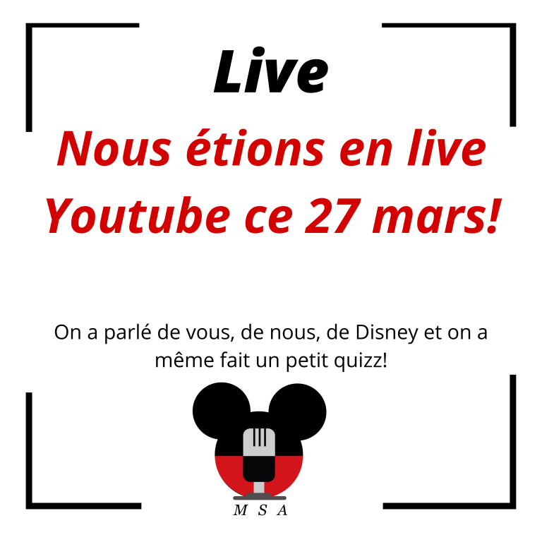 Notre tout premier live sur Youtube!