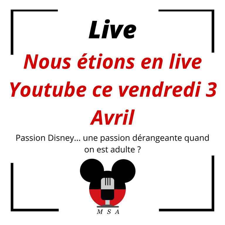 Déjà notre deuxième live Youtube!